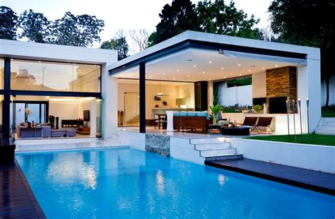 luxury pool house designs interior designs luxury flat roof house design blue pool