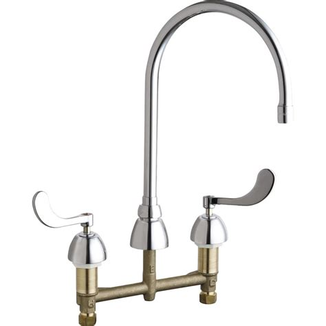 chicago kitchen faucets chicago faucets 786 gn8ae3abcp universal polished chrome