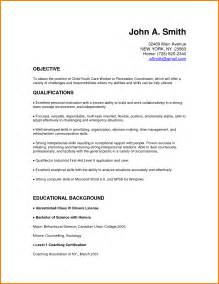 child care worker sle resume child care resume