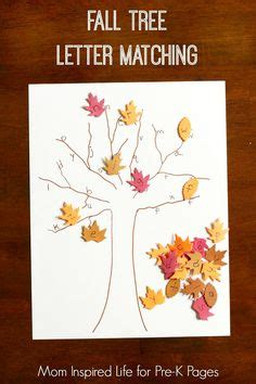 free tree letter matching a to m great winter and fall leaves free printable and leaves on pinterest