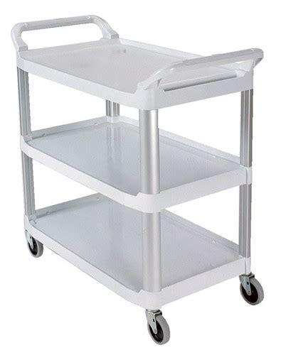 cr馥r cuisine rubbermaid 3 shelf open utility transport cart rcp 4091