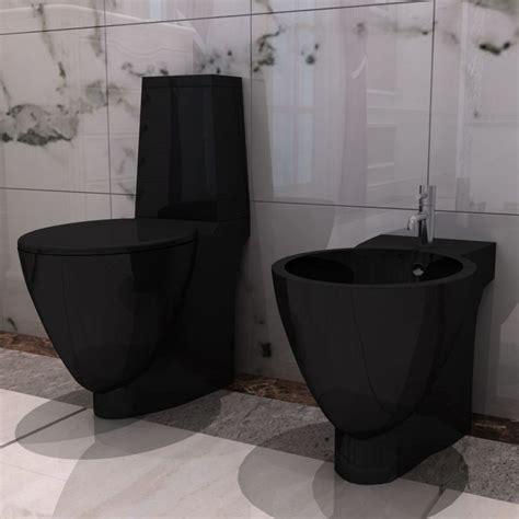 wc bidet set black ceramic toilet bidet set