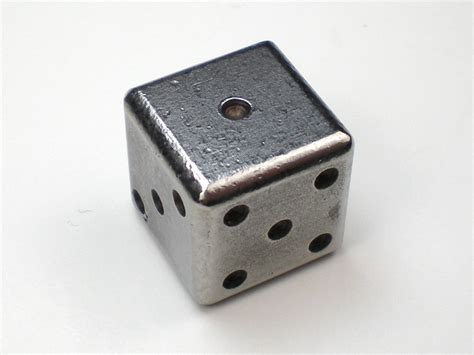 Handmade Dice - handmade steel dice w black 15mm d6 dice collection