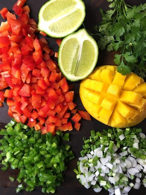 Shower Chop Fruit by Mango Blueberry Salsa Recipe Add A Pinch