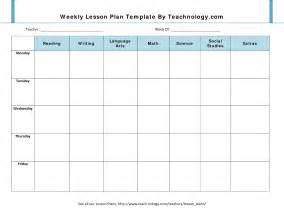 lesson plan template 7 weekly lesson plan template
