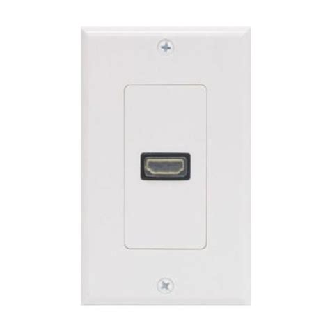 ge hdmi plastic wall plate white 87635 the home depot
