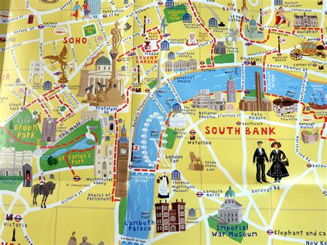 tourist map of with attractions maps update 21051488 tourist maps