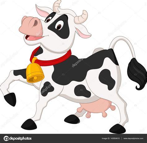 imagenes animadas de amor de vacas vaca feliz de dibujos animados vector de stock