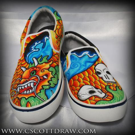 Vintage Those Shoes Handmade Painted - citrus custom painted shoes by chels poo on deviantart