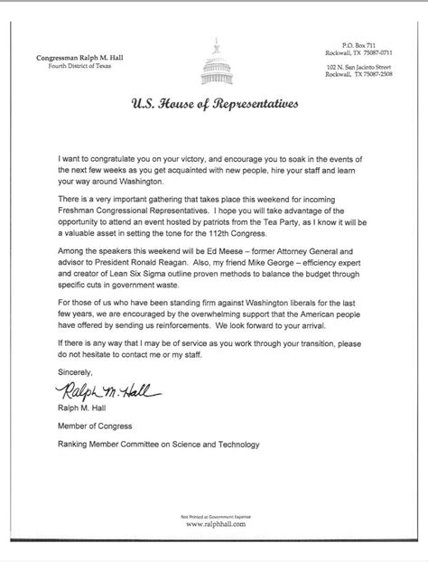 letter to a congressman template letter to congressman template sles letter cover