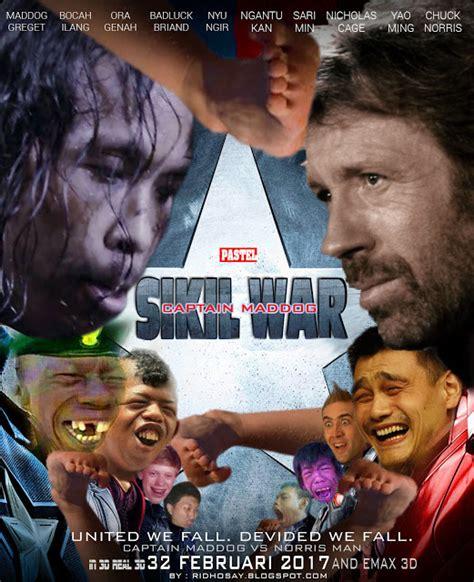 film war seru sikil war parodi poster film civil war ridhosay blogspot