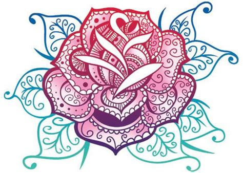 rose mandala glitter temporary tattoo tatt me