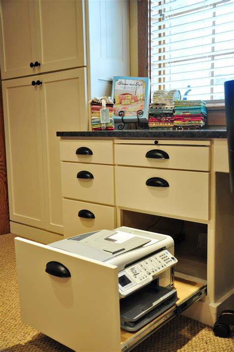 hidden printer cabinet sewing room cabinet ideas trends and traditions
