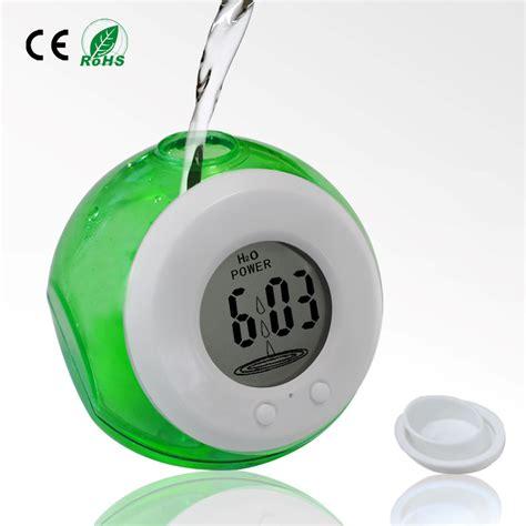 water powered digital clock with temperature function jam temperatur blue jakartanotebook