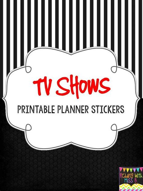 printable tv stickers printable planner stickers tv shows