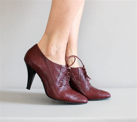 oxford shoes heels leather oxford heels 80s oxford shoes pebbled by