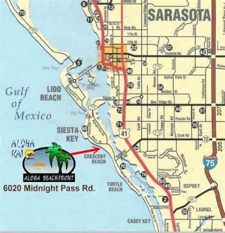 map of siesta florida siesta key rentals aloha beachfront rentals siesta
