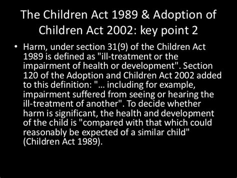 section 7 children s act 1989 defining abuse the policy framework