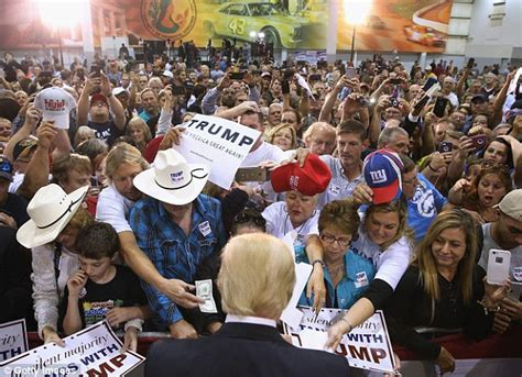 donald fan donald supporter is seen spitting at immigration