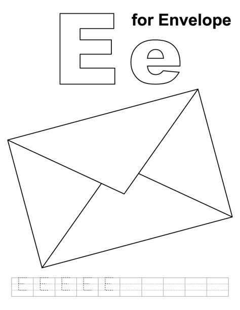 envelope templates for pages envelope coloring pages preschool coloring pages