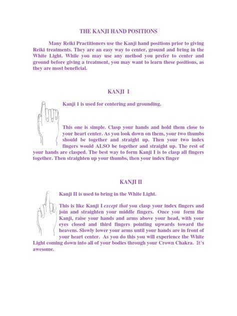 kanji hand positionsdocx finger hand