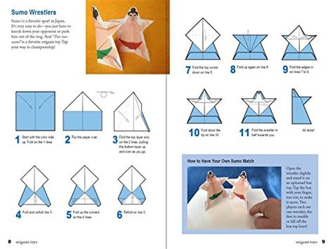 Origami Toys That Tumble Fly And Spin - japanese paper toys kit origami paper toys that walk