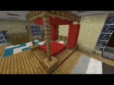 minecraft bed designs minecraft interior design four poster bed youtube