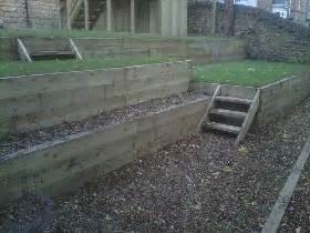 Railway Sleepers Sheffield by Sheffield Landscape Gardener Decking Landscaping