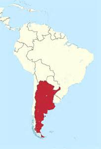 argentina map south america