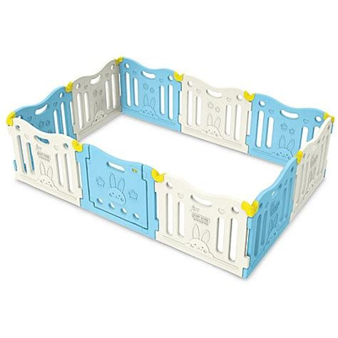 baby care funzone baby play pen in sky blue buybuy baby