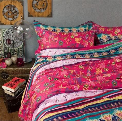 fancy boho 100 cotton bedding sets 4pcs full queen king