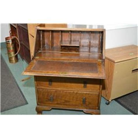 Small Drop Front Desk Small Oak Three Drawer Drop Front Desk With Fitted Interior