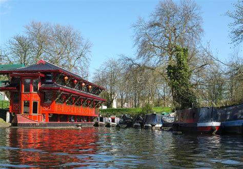 floating boat restaurant london floating chinese restaurant camden london stock photo