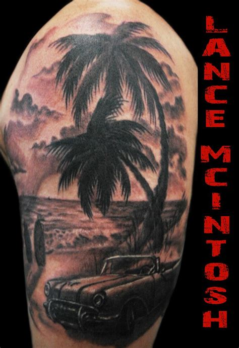 beach scene tattoo classic car my tattoos cars