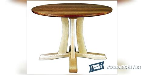 pedestal table plans woodarchivist