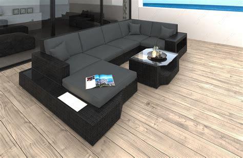 rattan sofa grau poly rattan lounge sofa set messana wicker patio design