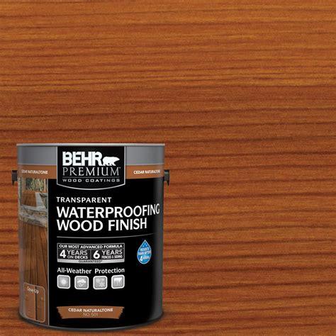 behr premium  gal cedar naturaltone transparent