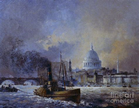 thames river america st pauls from the river thames london painting by silvia duran