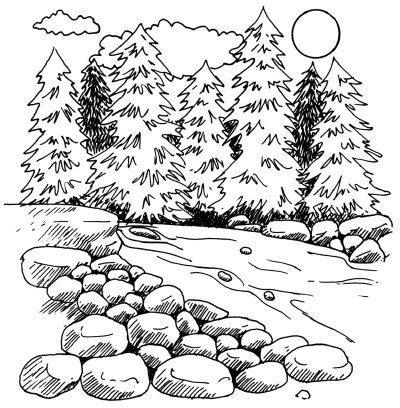 how to draw landscape how to draw a mountain howstuffworks