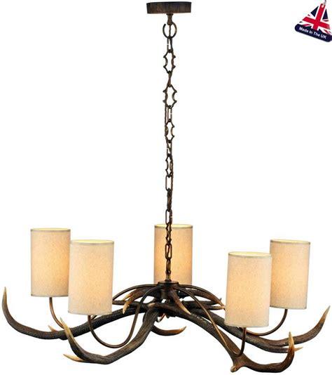 antler chandeliers and lighting company david hunt antler 5 light highland rustic chandelier cream