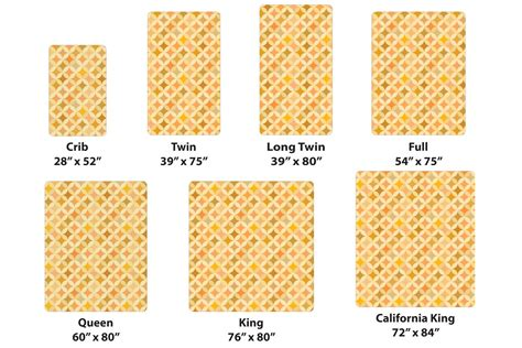 bed sizes comparison quick reference chart for standard mattress sizes