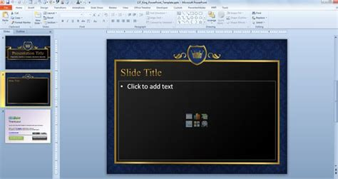 royal templates for ppt free king powerpoint template