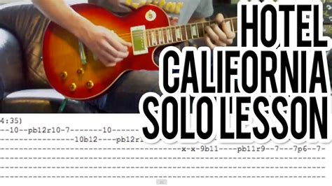tutorial guitar hotel california hotel california solo guitar lesson with tabs youtube