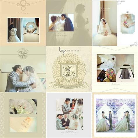 wedding photobook layout edwin maria wedding day photobook design photo by hop