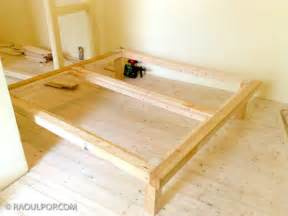 King Size Bed Frame Diy Diy King Size Bed Frame Bedrooms Pinterest