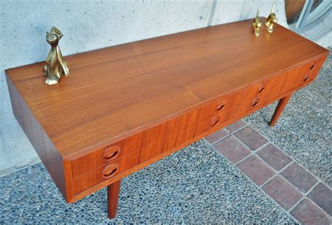 teak console table with drawers teak four drawer console table or tv stand by poul