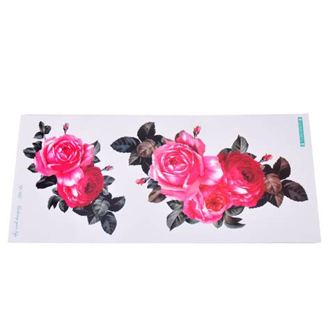Temporary Stickers waterproof flower temporary arm removable
