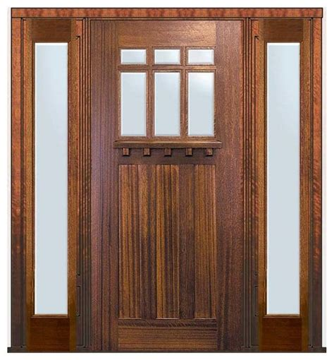 Pre Hung Exterior Door Pre Hung Sidelites Door 80 Wood Mahogany Craftsman 6 Lite Tdl Glass Craftsman Front Doors
