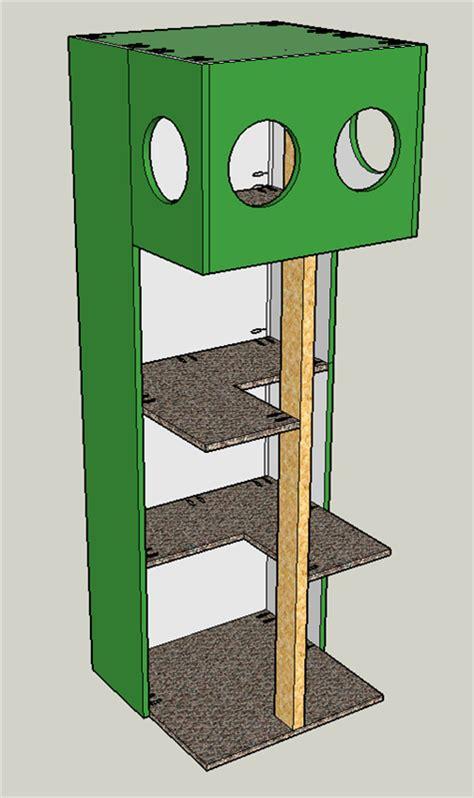 cat tree house buildsomethingcom