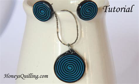 How To Make Paper Water Resistant - how to make spiral circle paper quilled earrings and